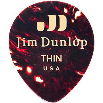 Dunlop Celluloid Teardrop Guitar Picks, Shell Thin 12 Pack