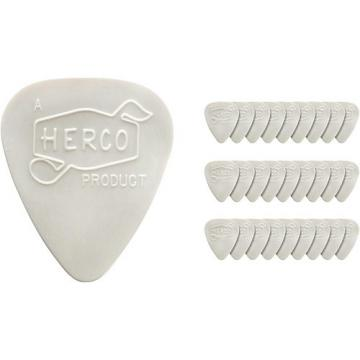 Dunlop Herco Vintage 66' Extra Light Picks White (36-Pack)