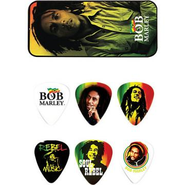 Dunlop Bob Marley Rasta Man Pick Tin with 6 Heavy Picks