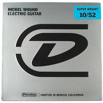 Dunlop Super Bright Light Top/Heavy Bottom Nickel Wound Electric Guitar Strings (10-52)