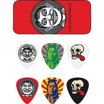 Dunlop John VanHanersvelt Johnny Face Pick Tin with 6 Picks Medium