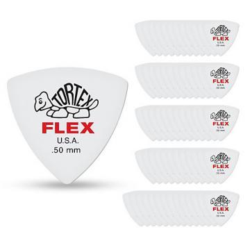 Dunlop Tortex Flex Triangle Guitar Picks .50 mm 72 Pack
