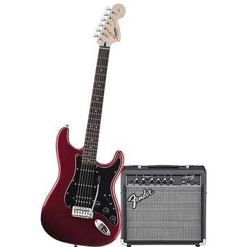 Squier Affinity Series HSS Stratocaster Electric Guitar Pack with 15G Amplifier Candy Apple Red