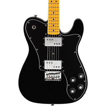 Squier Vintage Modified Telecaster Deluxe Electric Guitar Black Maple Fingerboard