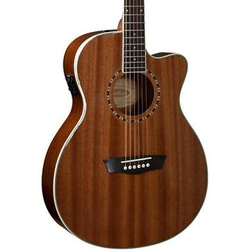 Washburn WF19CE Mahogany Folk Acoustic-Electric Guitar Natural