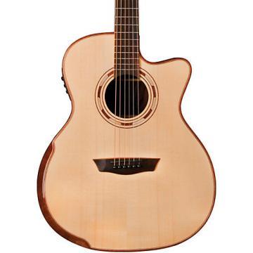 Washburn WCG25SCE Comfort Series Grand Auditorium Cutaway Acoustic-Electric Guitar Natural