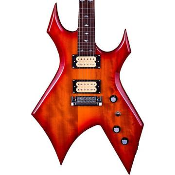 B.C. Rich Warlock Neck Through with Dimarzios Electric Guitar Cherry Red Sunburst