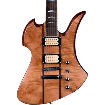 B.C. Rich Mockingbird Neck Through with Maple Burl Top and Dimarzios Electric Guitar Gloss Natural