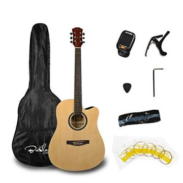 Bailando 41 Inch Full Size Dreadnought Cutaway Acoustic Guitar, Natural