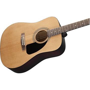 Fender FA-100 Dreadnought Acoustic Guitar Bundle with Gig Bag, Tuner, Strap, Picks, Strings - Natural