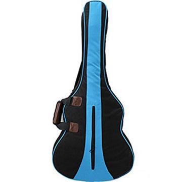 MiraTekk Nylon Cotton Acoustic Guitar Bag Backpack Two Back Pocket Gig Bag Electric Guitar Bag (Blue - 36 inch)