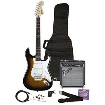 Squier 030-1600-032 SE Electric Guitar and Amplifier Starter Pack, Brown Sunburst (Discontinued by Manufacturer)
