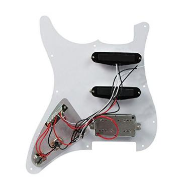 Vinmax 3Ply White Loaded Pickguard HSS w/ Pickups for Squier Strat Guitar Prewired