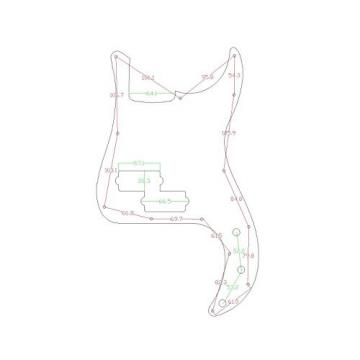 Musiclily P Bass pickguard for Precision Bass Guitar, 4Ply Pearl Parchment