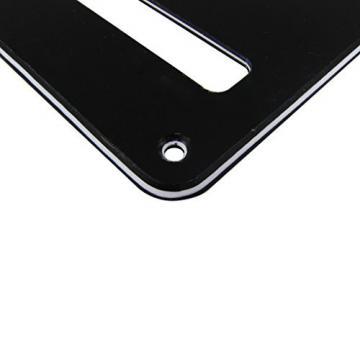 IKN 3Ply Black Strat SQ Style Guitar Cavity Cover Tremolo Back Plate w/ 25 Screws