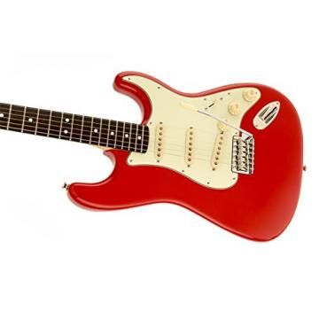 Squier by Fender Simon Neil Classic Vibe 60's Stratocaster Electric Guitar Electric Guitar, Rosewood Fingerboard, Fiesta Red