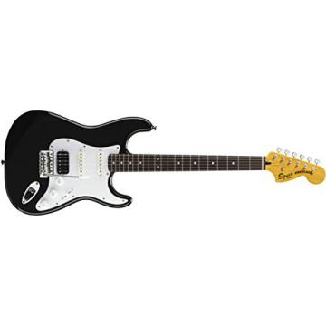 Squier by Fender Vintage Modified Stratocaster Electric Guitar HSS - Black - Rosewood Fingerboard