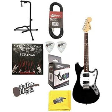 Fender Squier Bullet Mustang HH, Rosewood Fingerboard w/Effin Strings & More
