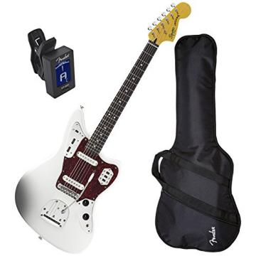 Squier Vintage Modified Jaquar Electric Guitar Olympic White w/ Fender Gig Bag and Tuner