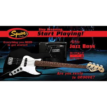 Squier® by Fender® Stop Dreaming-Start Playing™ Set: Affinity J Bass® w/ Rumble 15 Amp, Black