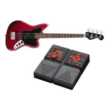 Squire Vintage Jaguar Special Bass Guitar - With Zoom B1on Bass Multi-Effects Processor Pedal
