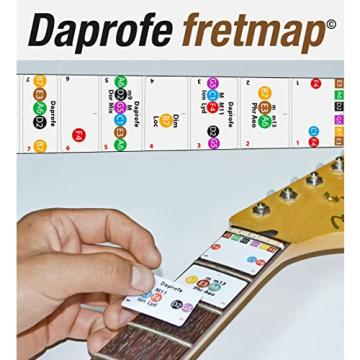 Daprofe 22 fret Guitar Fretboard Note Removable Vinyl Stickers Fits Stratocaster Les Paul and Acoustic Guitars