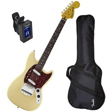 Squier Vintage Modified Mustang Vintage White w/ Fender Gig Bag and Tuner