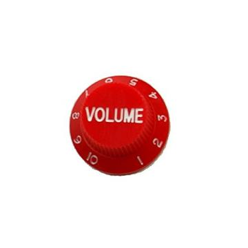 Musiclily Guitar Vintage Plastic One Volume Two Tone Control Knobs for Fender Strat Stratocaster Guitar, Red(Pack of 2)