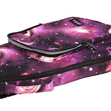 Semi-Hollow Electric Guitar Case—Durable, Padded, Soft Carrying Gig Bag with Backpack Straps, Purple Cosmos by Phitz