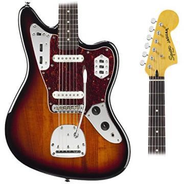 Squier 030-2000-500 Vintage Modified Jaguar (3-Tone Sunburst) w/ Fender Gig Bag and Tuner