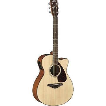 Yamaha FSX800C Small Body Solid Top Cutaway Acoustic-Electric Guitar, Natural