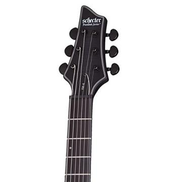 Schecter 243 Artist Series Keith Merrow KM-6 Burst Satin Solid-Body Electric Guitar, Trans Black