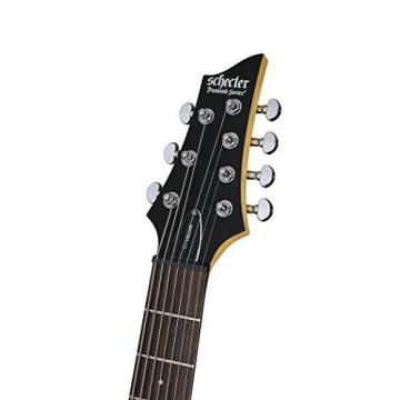 Schecter C-7 DELUXE -Satin Black 7-String Solid-Body Electric Guitar, Satin Black