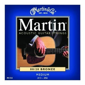 Bulk 12 Sets, Martin, Acoustic Guitar Strings, Medium Gauge, 80/20 Bronze, M150