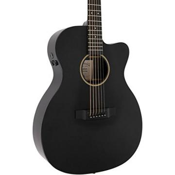 Martin X Series Custom X-000CE Auditorium Acoustic-Electric Guitar Black