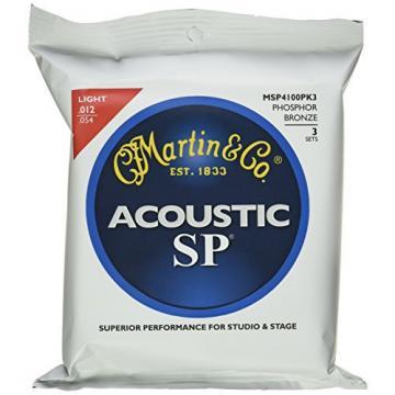 Martin MSP4100 SP Phosphor Bronze Acoustic Guitar Strings, Light 3 Pack
