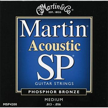 Martin MSP4200 SP Phosphor Bronze Acoustic Guitar Strings, Medium