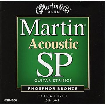 Martin MSP4000 SP Phosphor Bronze Acoustic Guitar Strings, Extra Light
