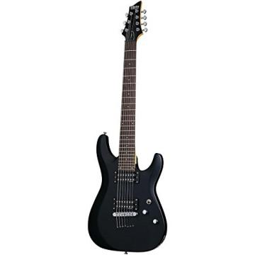 Schecter Guitar Research C-7 Deluxe Seven-String Electric Guitar Satin Black