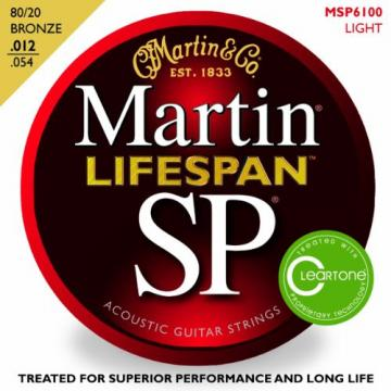 Martin MSP6100 SP Lifespan 80/20 Bronze Light Acoustic Guitar Strings