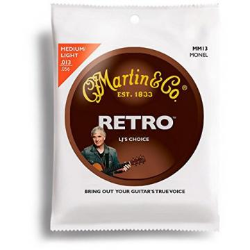 Martin MM13 Retro Acoustic Guitar Strings Medium Light 13-56