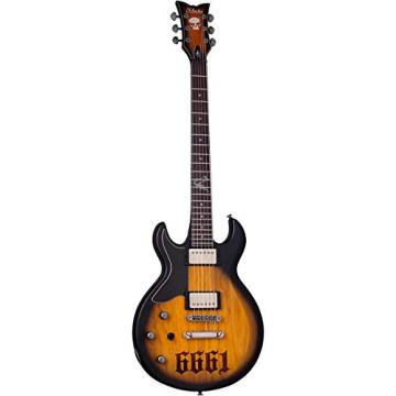 Schecter Guitar Research Zacky Vengeance S-1 6661 Left-Handed Electric Guitar Aged Natural Satin Black Burst