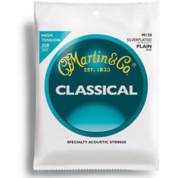 Martin M120 Silverplated Classical Guitar Strings, High Tension