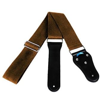 Acoustic Guitar Strap - Soft Cotton no Slide During Playing and Cut Into Your Body Like Nylon - Wide Adjustment Range and Secure Leather Holes-Suitable for All Ages - Classical Design