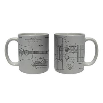 MARTIN GUITAR STRINGS Patent Coffee Mug Tea Cup Ceramic Novelty Gift Design