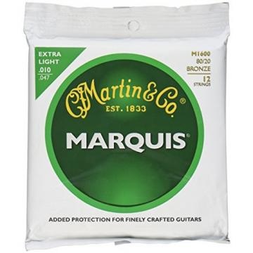 Martin M1600 Marquis 80/20 Bronze 12-String Acoustic Guitar Strings, Extra Light