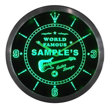 ncpf1016-b MARTIN'S Famous Guitar Lounge Beer Pub LED Neon Sign Wall Clock