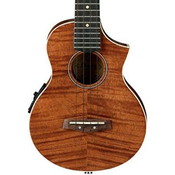 Ibanez UEW15E Flame Mahogany Concert Acoustic-Electric Ukulele Natural