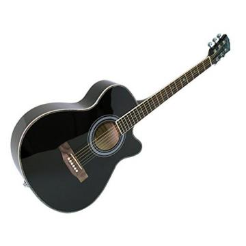 Martin Smith W-401E-BK Electric Acoustic Guitar Cutaway, Black