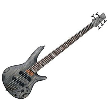 Ibanez SRFF805 Multi-scaling 5-String Electric Bass Guitar with Satin Black Finish
